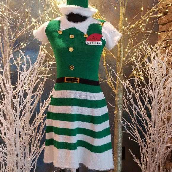 e105edb58203 with love derek Dresses | Ugly Holiday Christmas Knit Dress With Hat ...